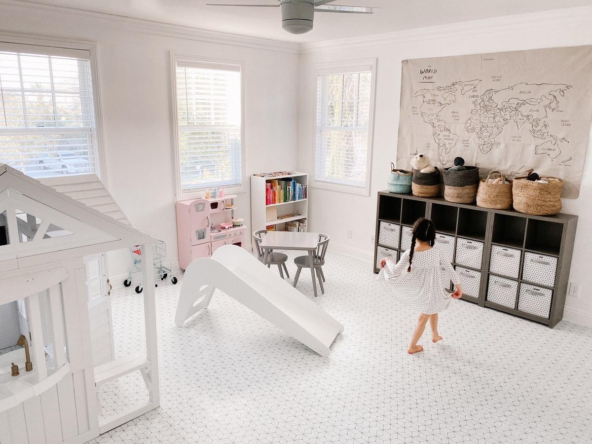 kids playroom ideas floor tiles