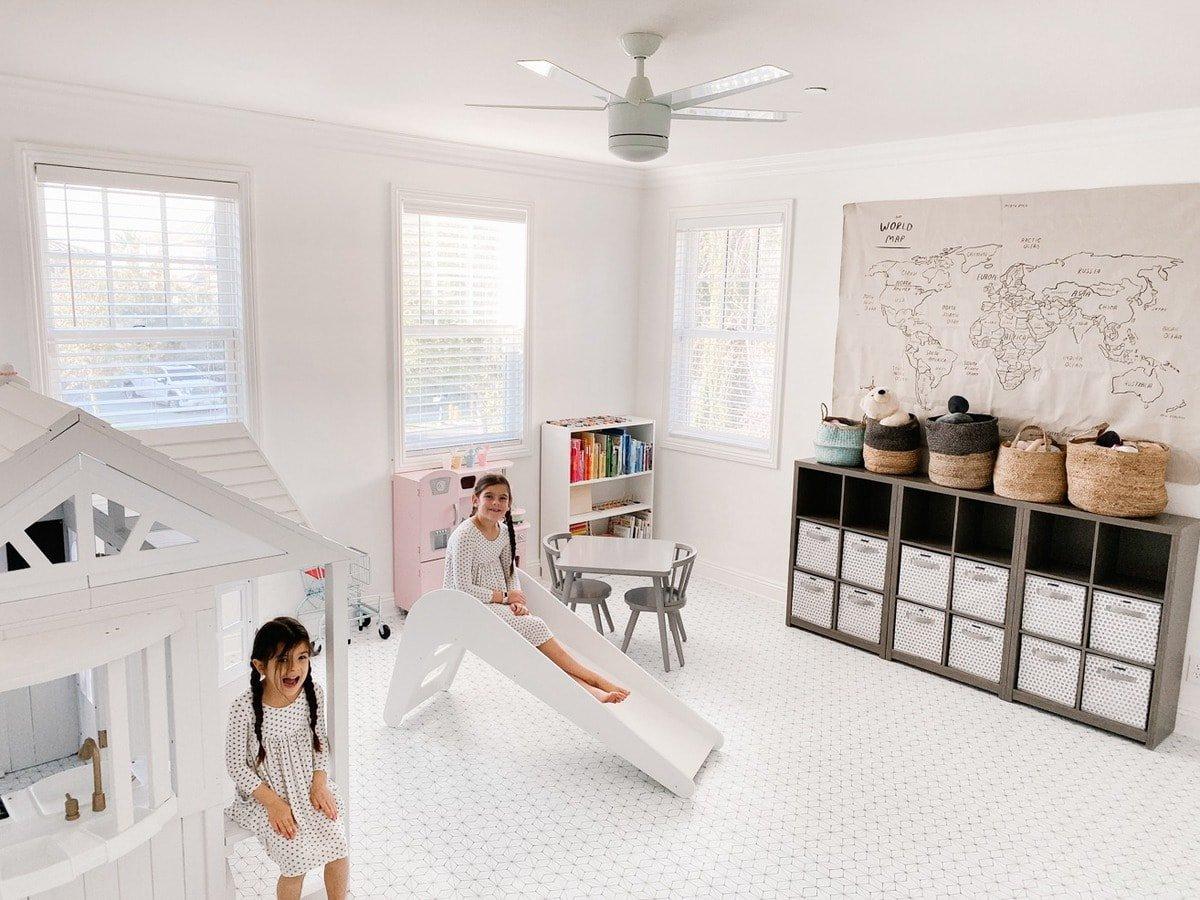 white modern slide for playroom