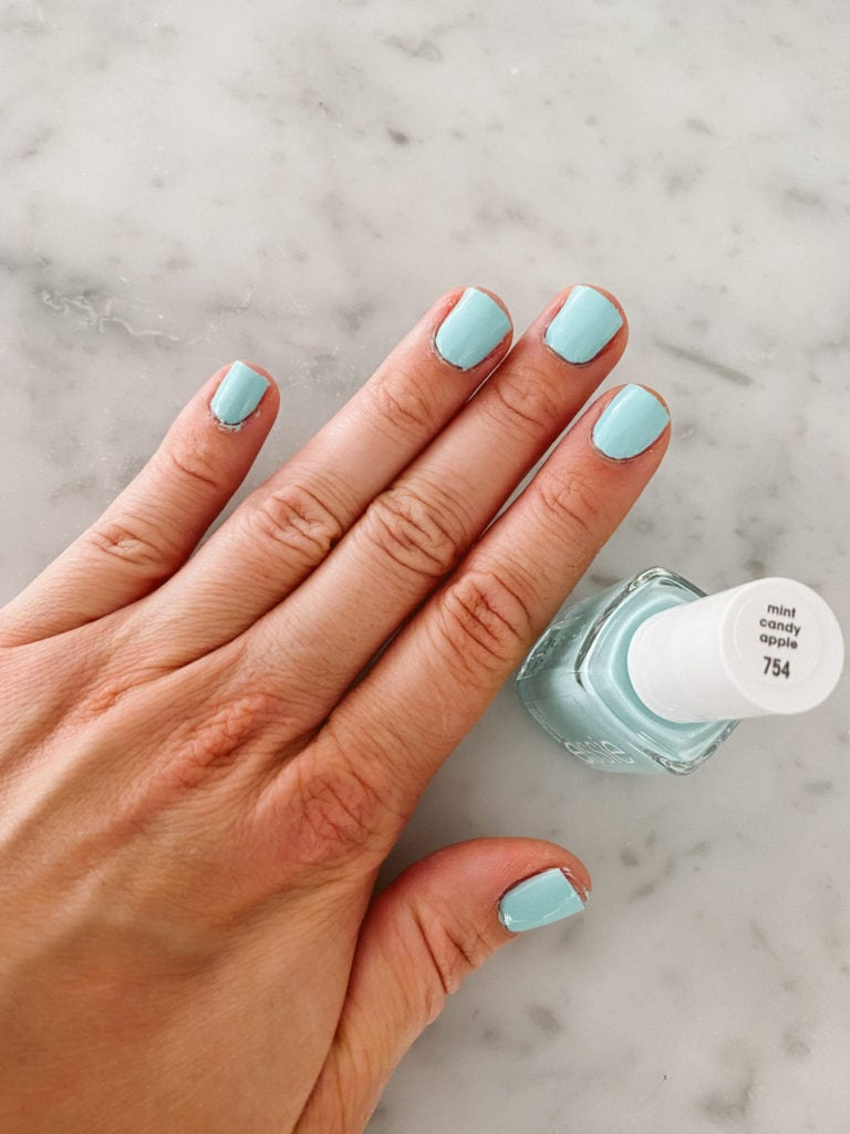 essie mint candy apple nail polish
