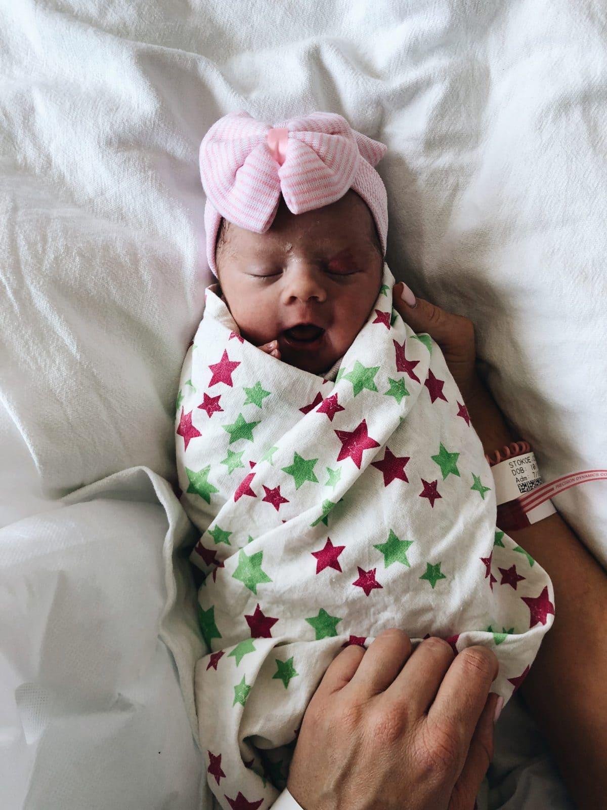 baby girl hospital bow hats