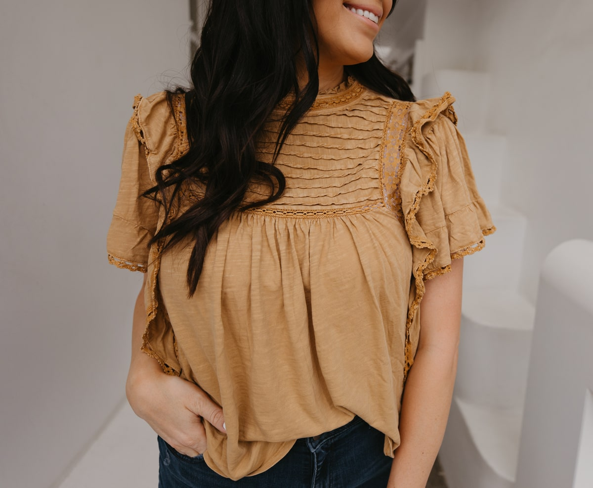 free people ruffled lace top saks off 5th designer sale