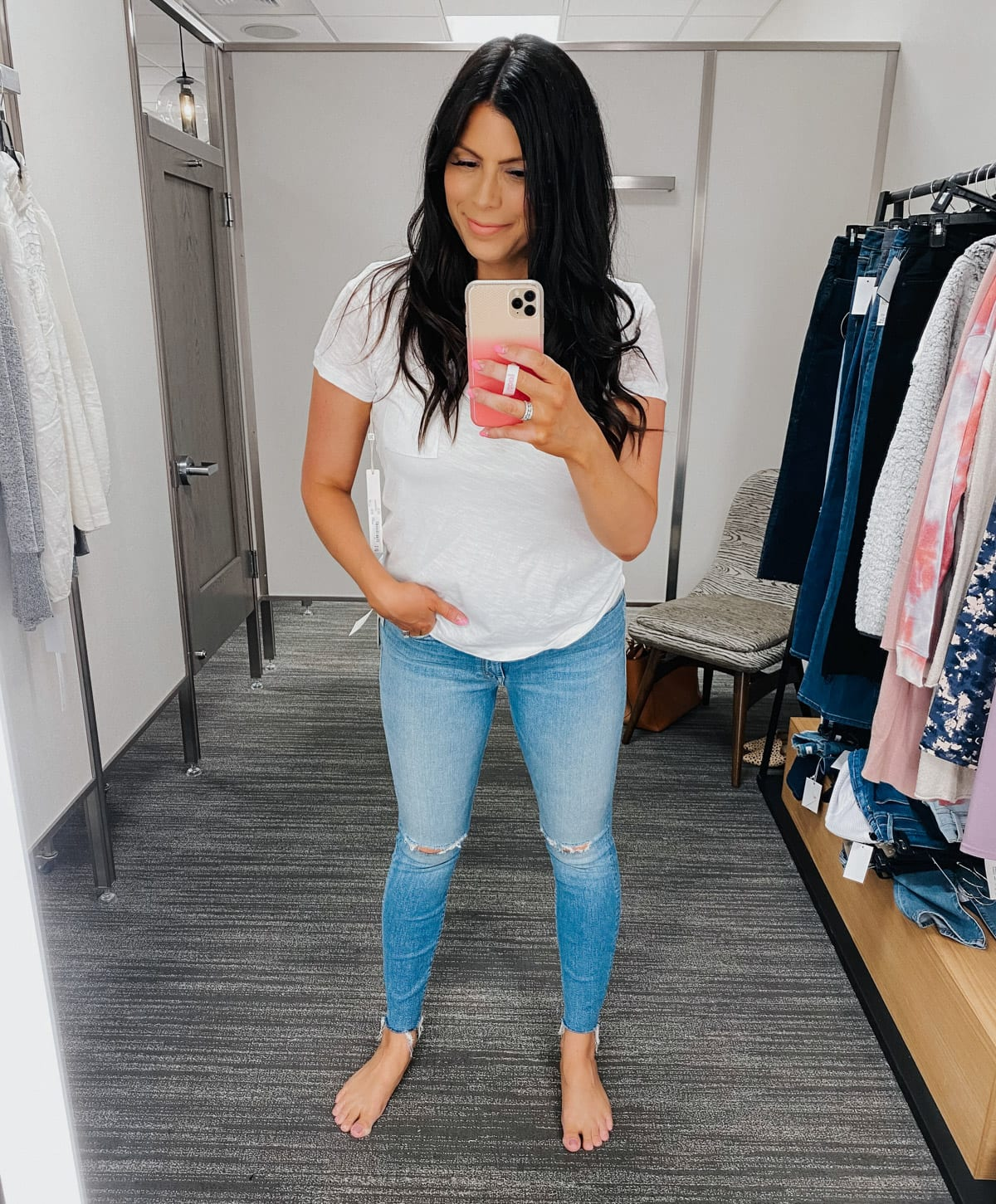 MOTHER ripped high waist jeans nordstrom anniversary sale