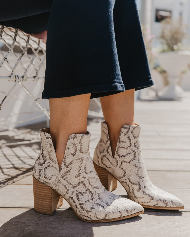 favorite shoes - steve madden snakeskin booties