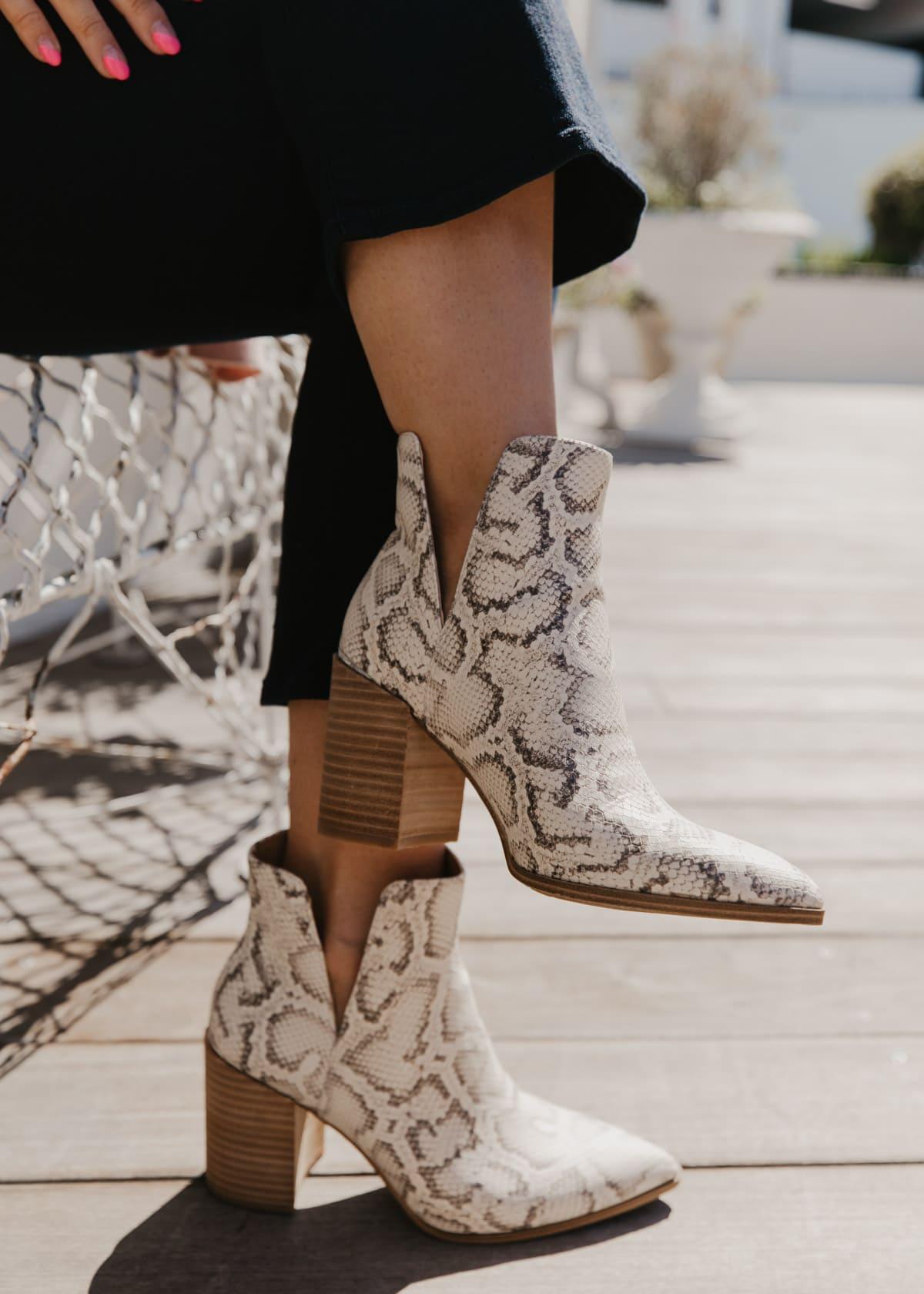 best shoes steve madde snakeskin booties