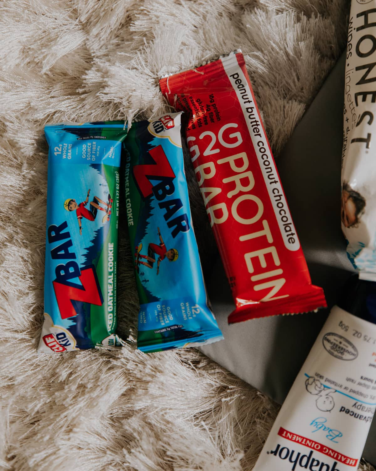 g2g protein bar and z bars for kids