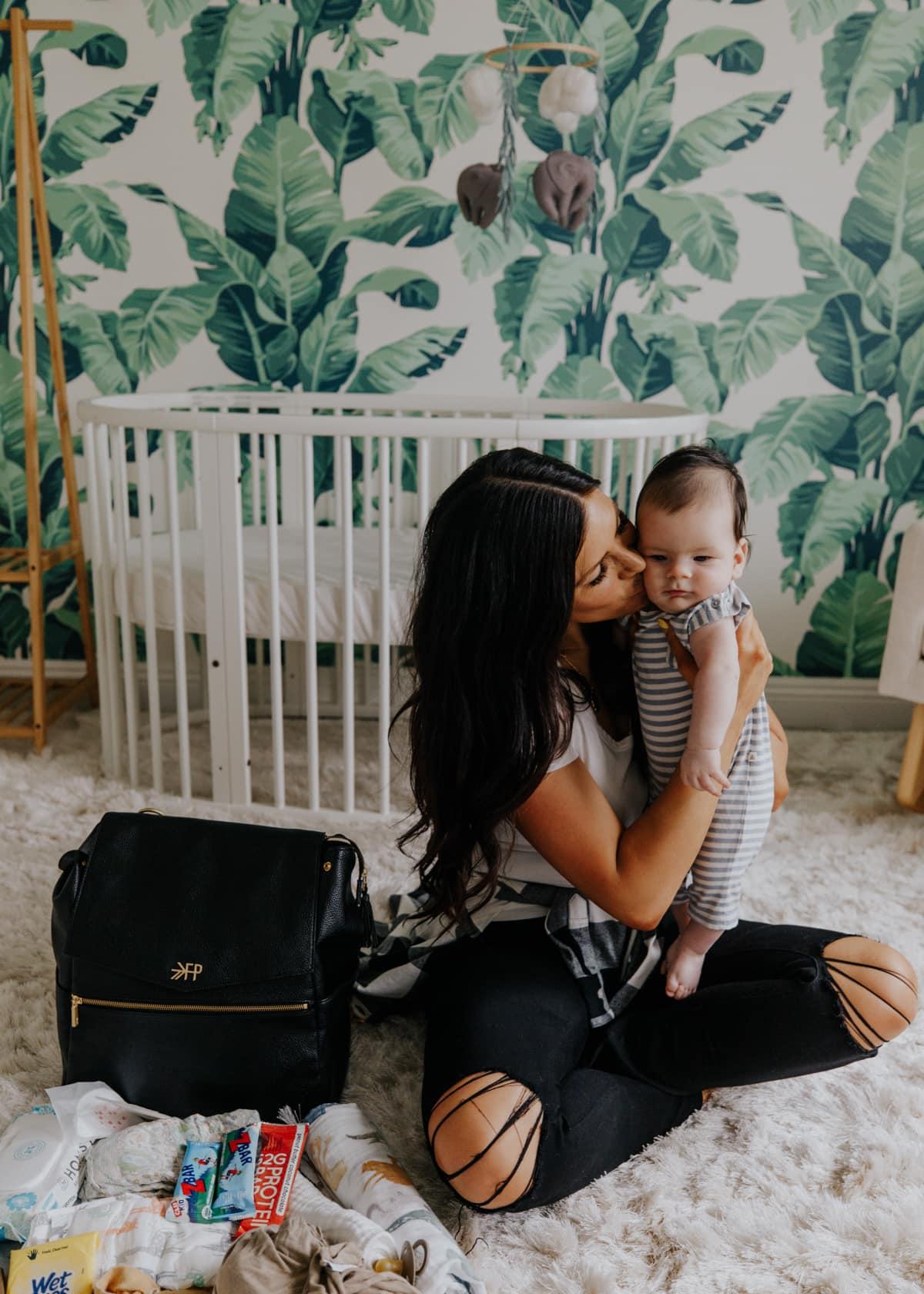 baby boy nursery and diaper bag
