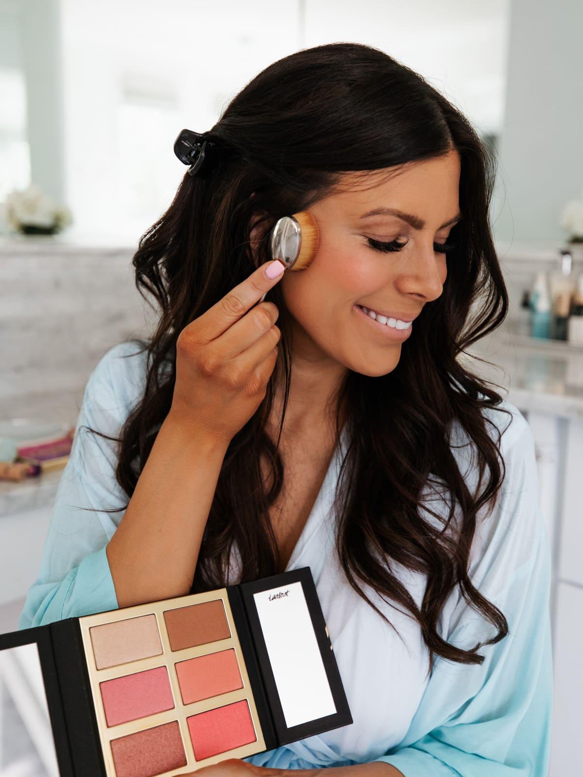 highlighter and blush palette from tarte