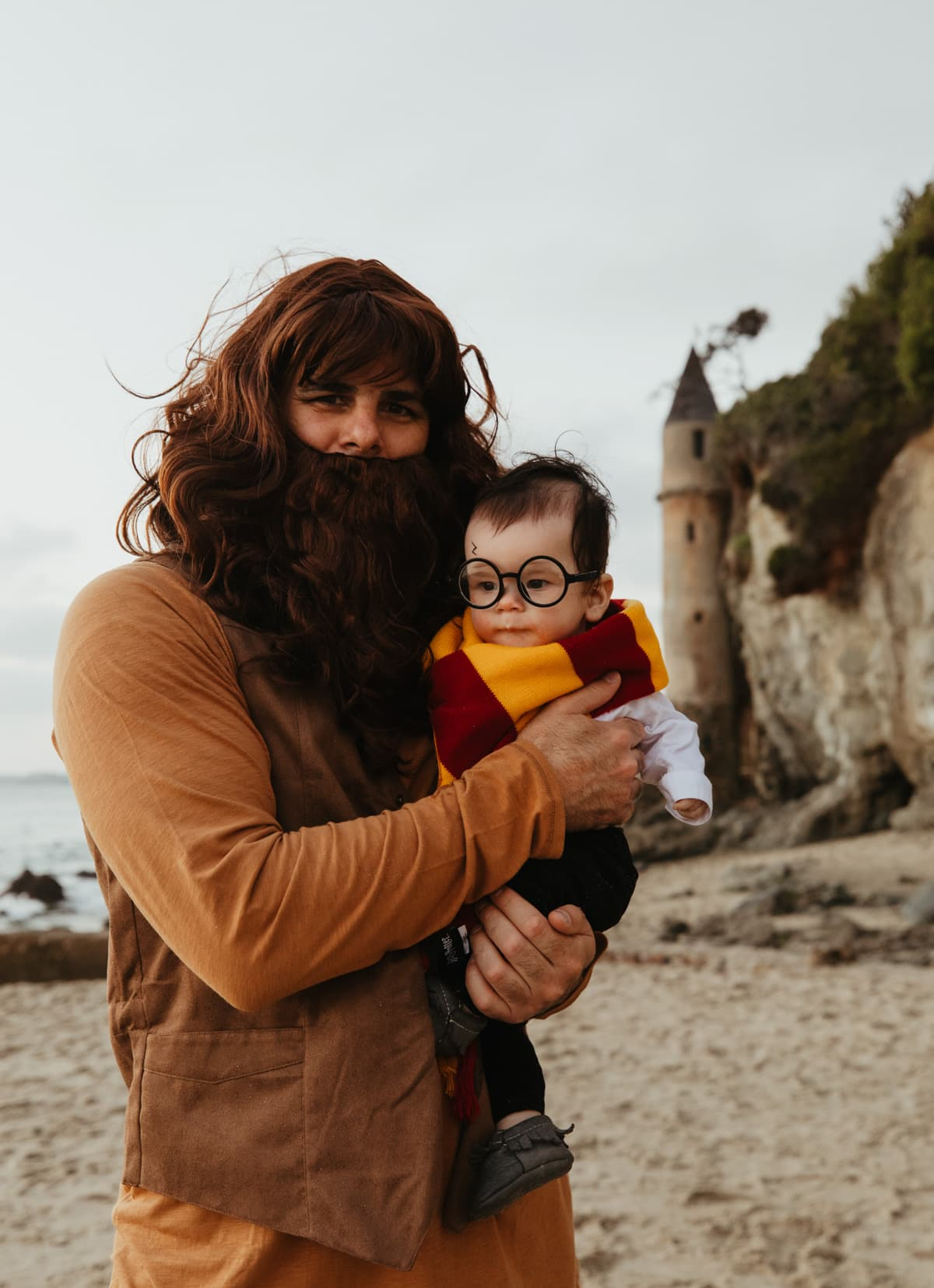 hagrid and baby harry potter costume