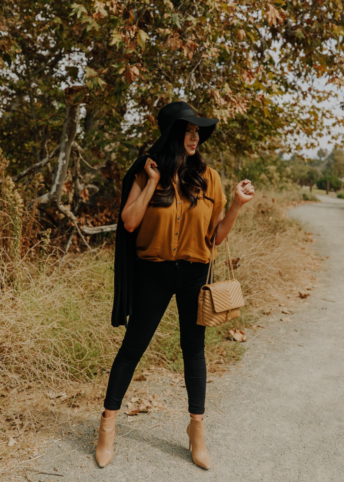 madewell central button down top for fall