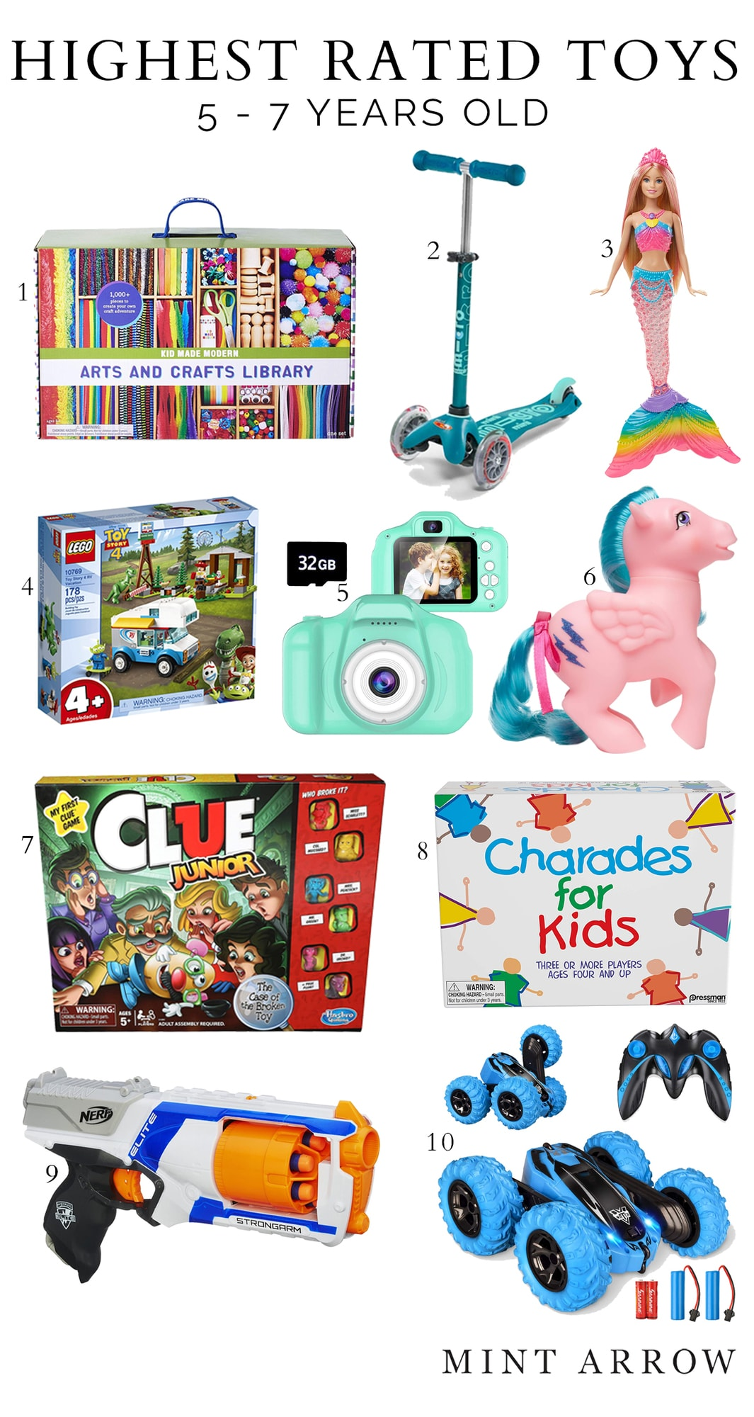 kids gift guide for 5 year olds to 7 years old