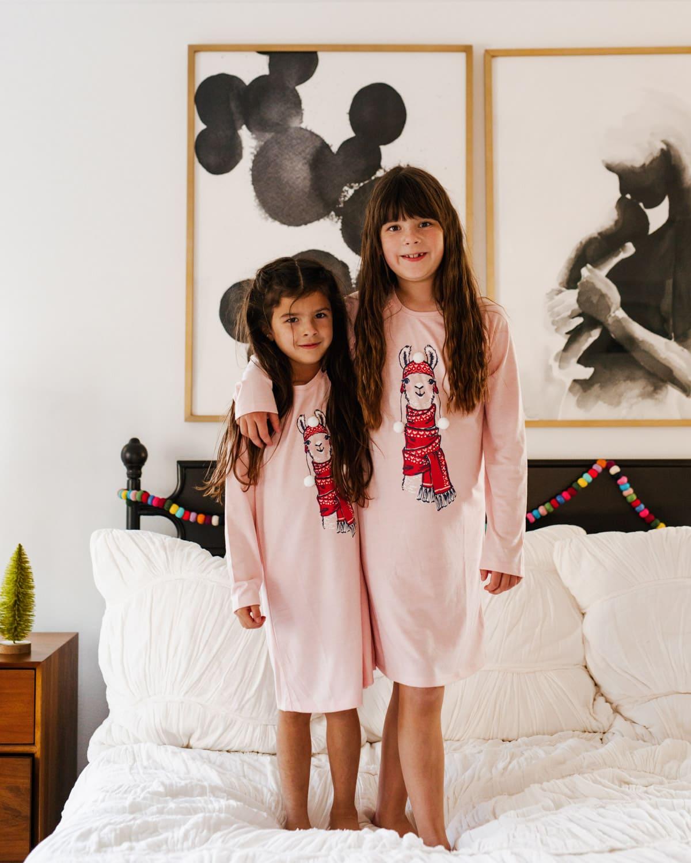 girls pajama dress christmas gap