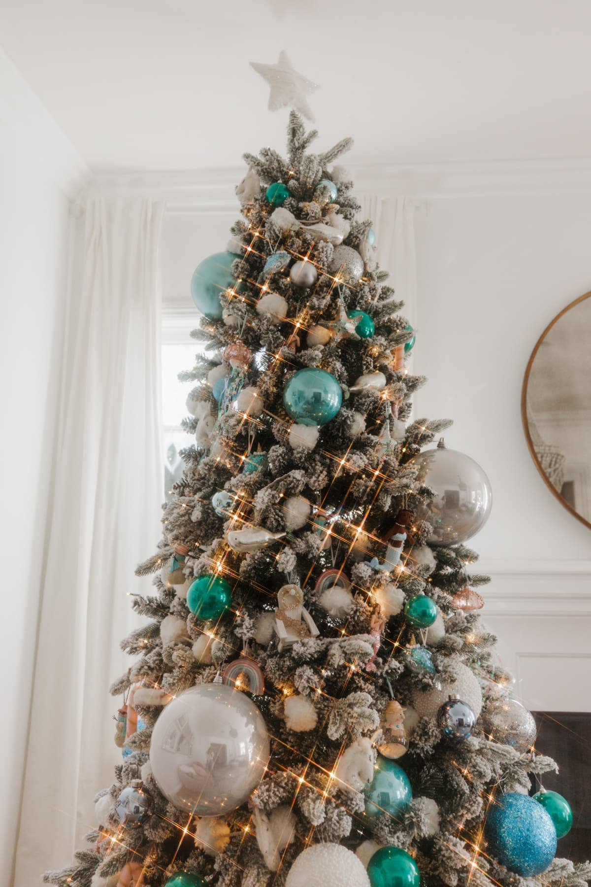 blue and silver christmas tree kohls