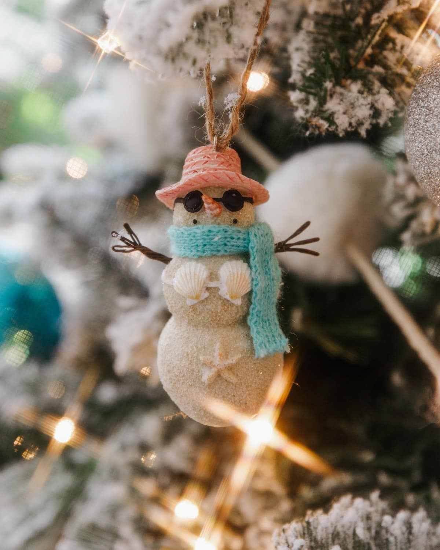 snow man ornament