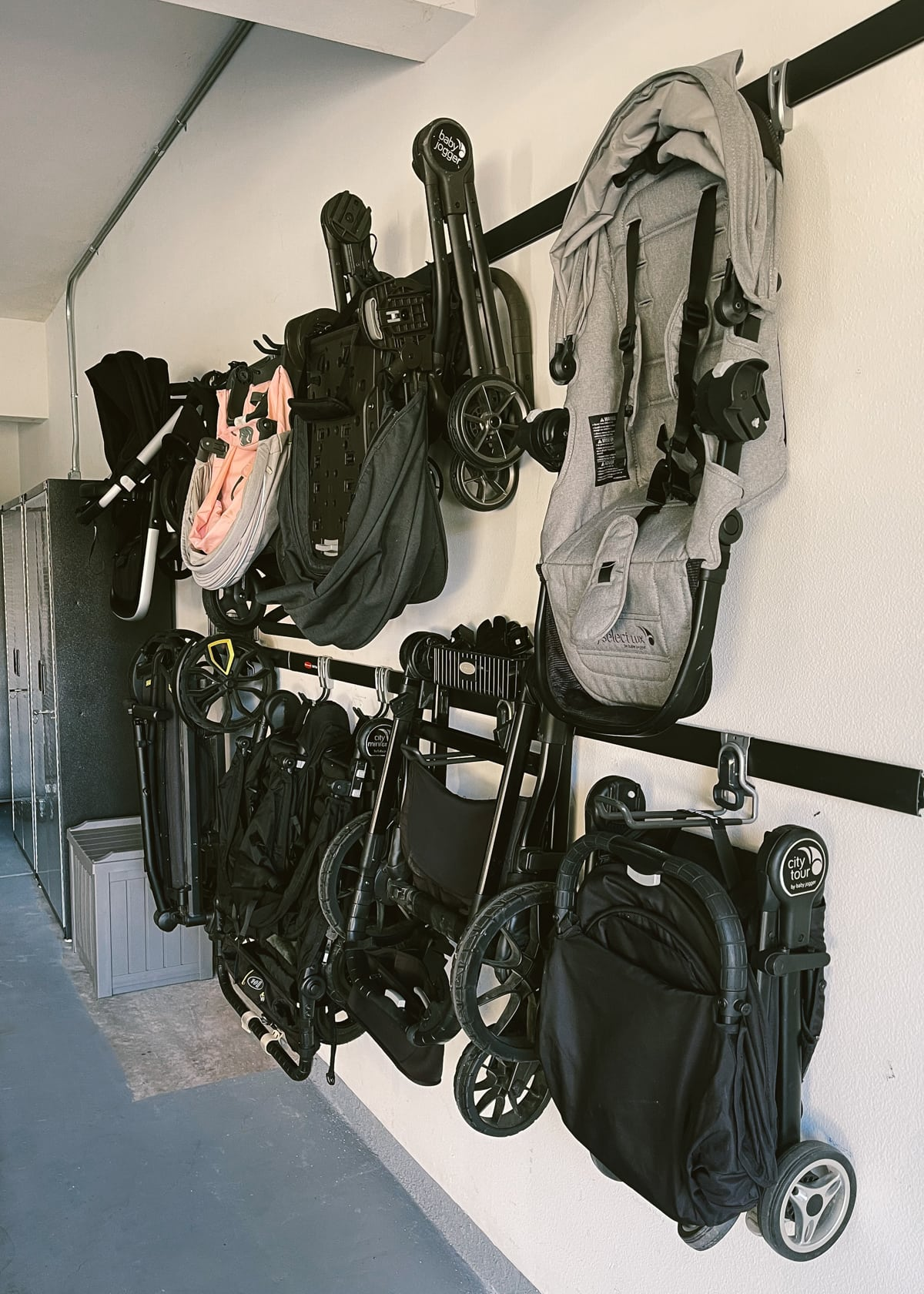 rail and hook kit garage organization tips
