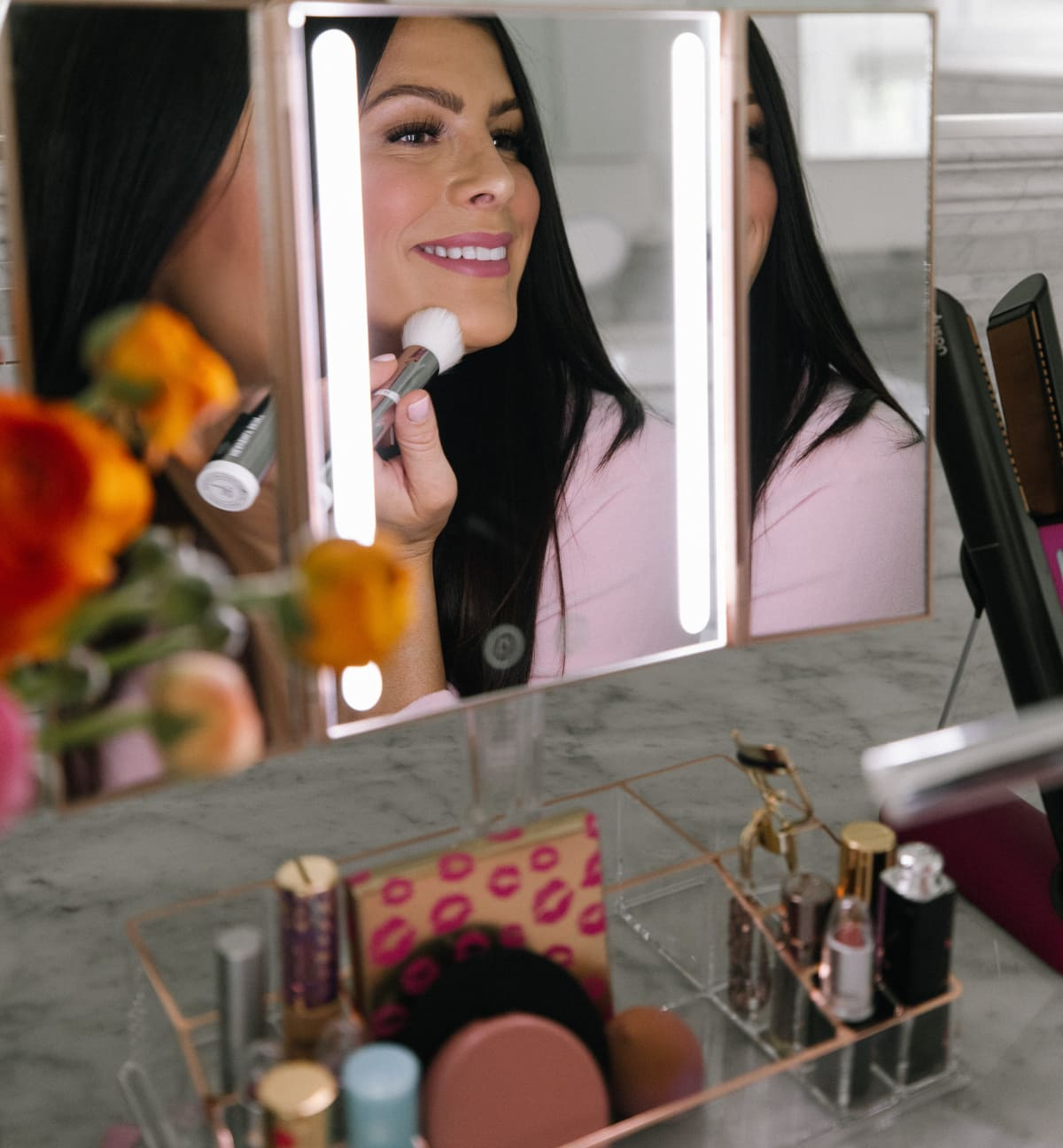 blushly LED vanity mirror qvc beauty finds