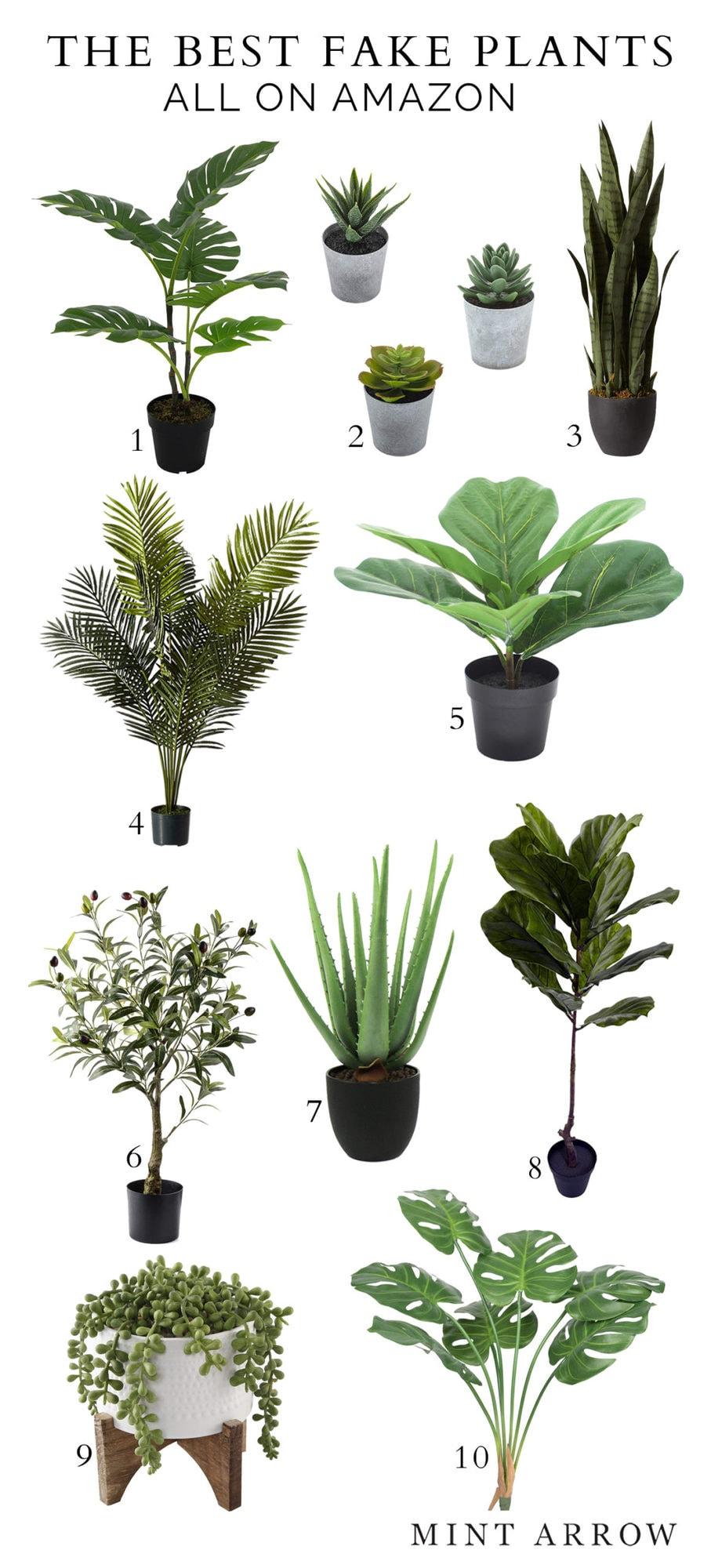 best fake plants amazon