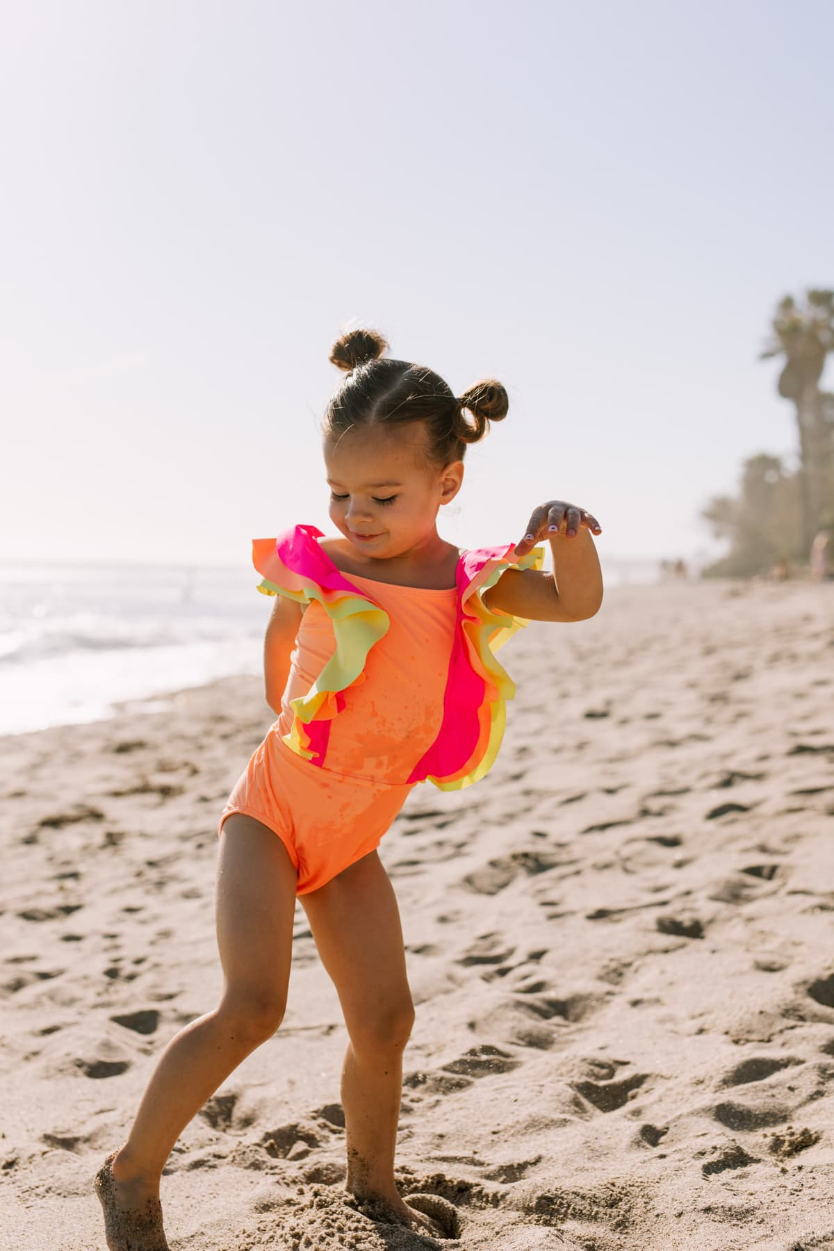bright colored girls swimsuit