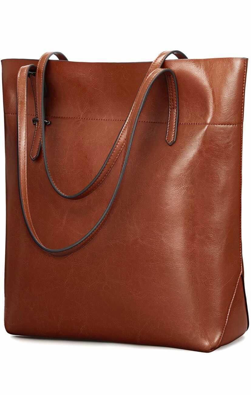 amazon leather tote bag