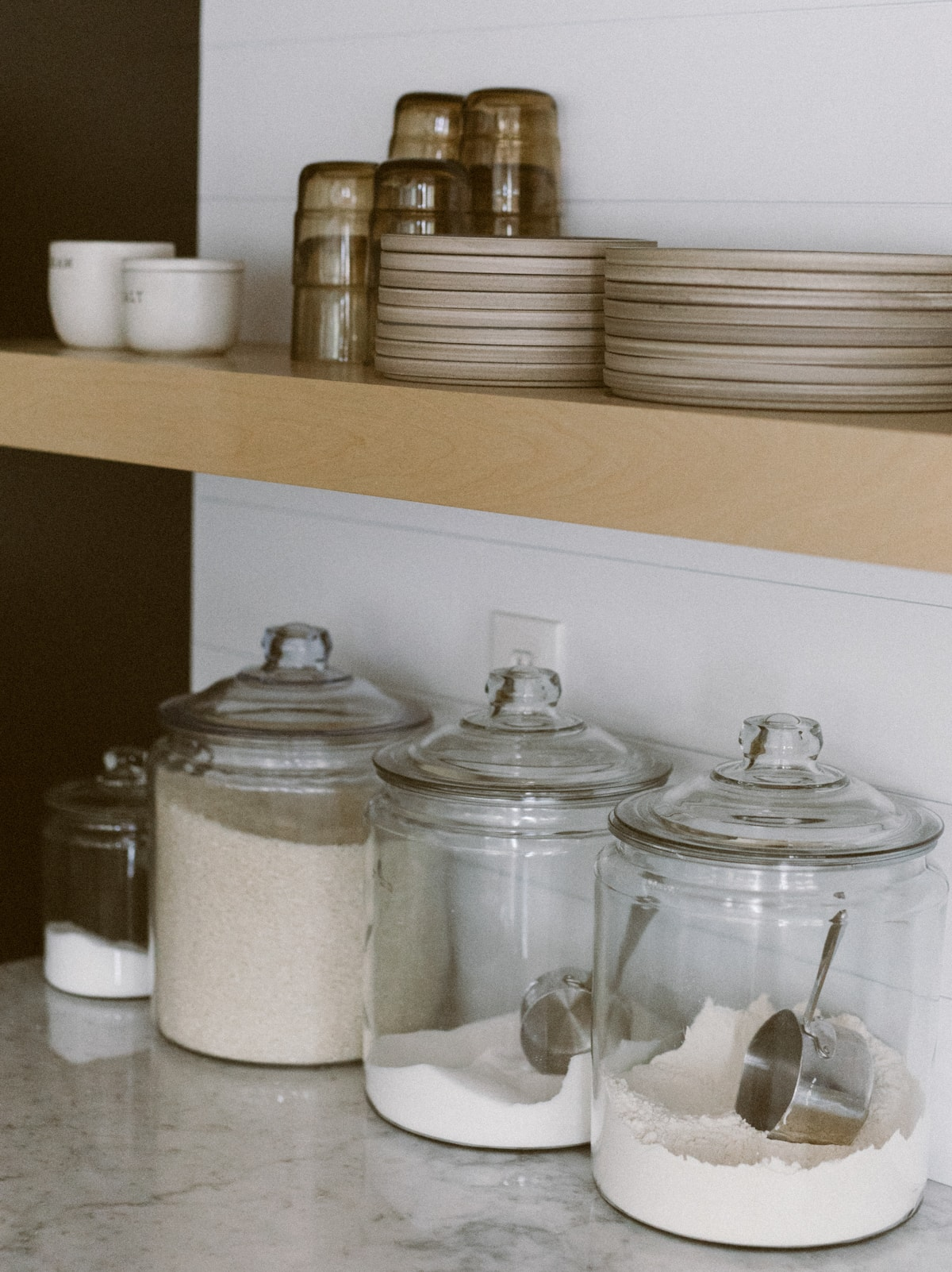 glass jar with lid for kitchen remodel