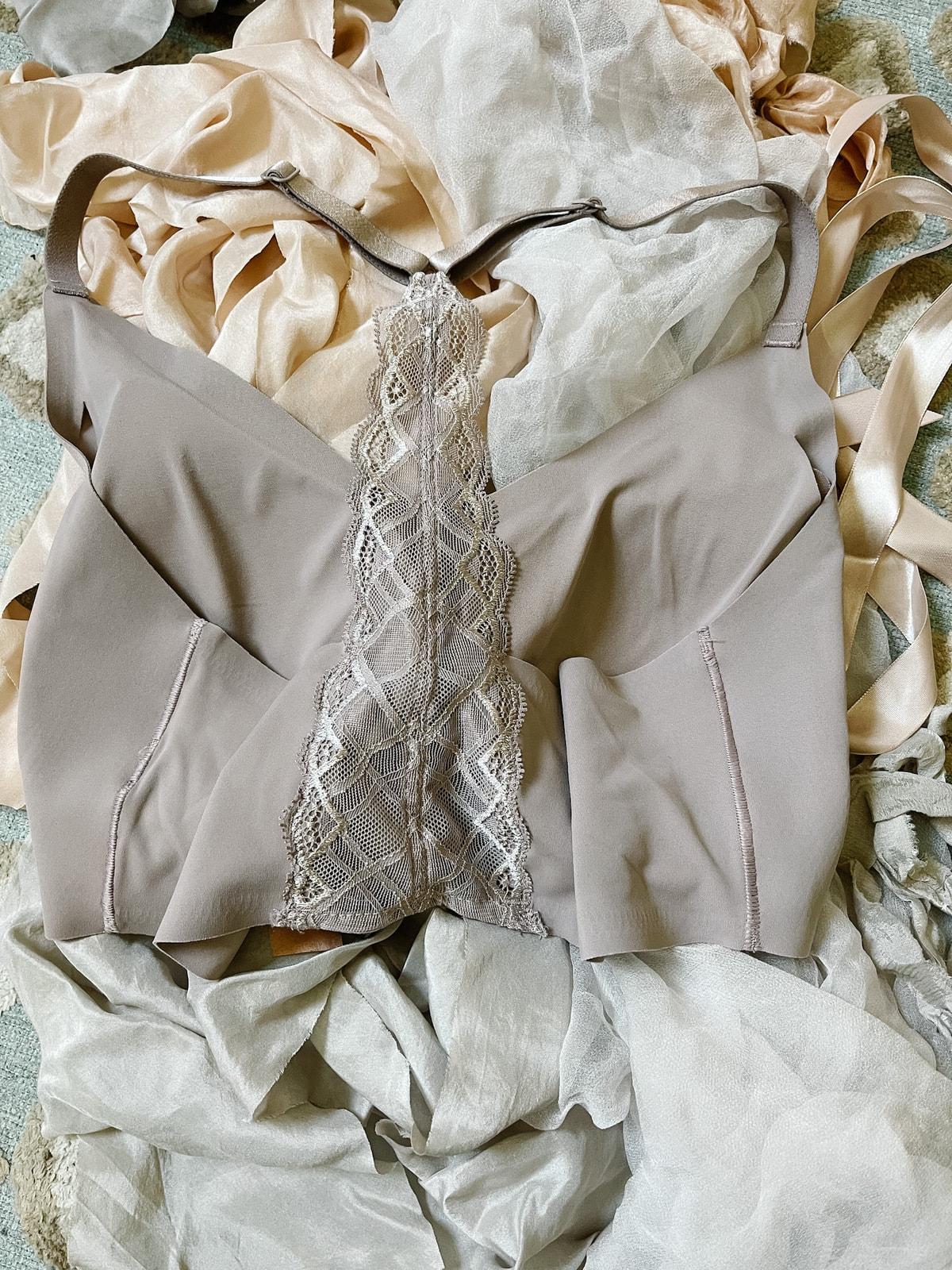 True Body Triangle Lace Racerback Bralette