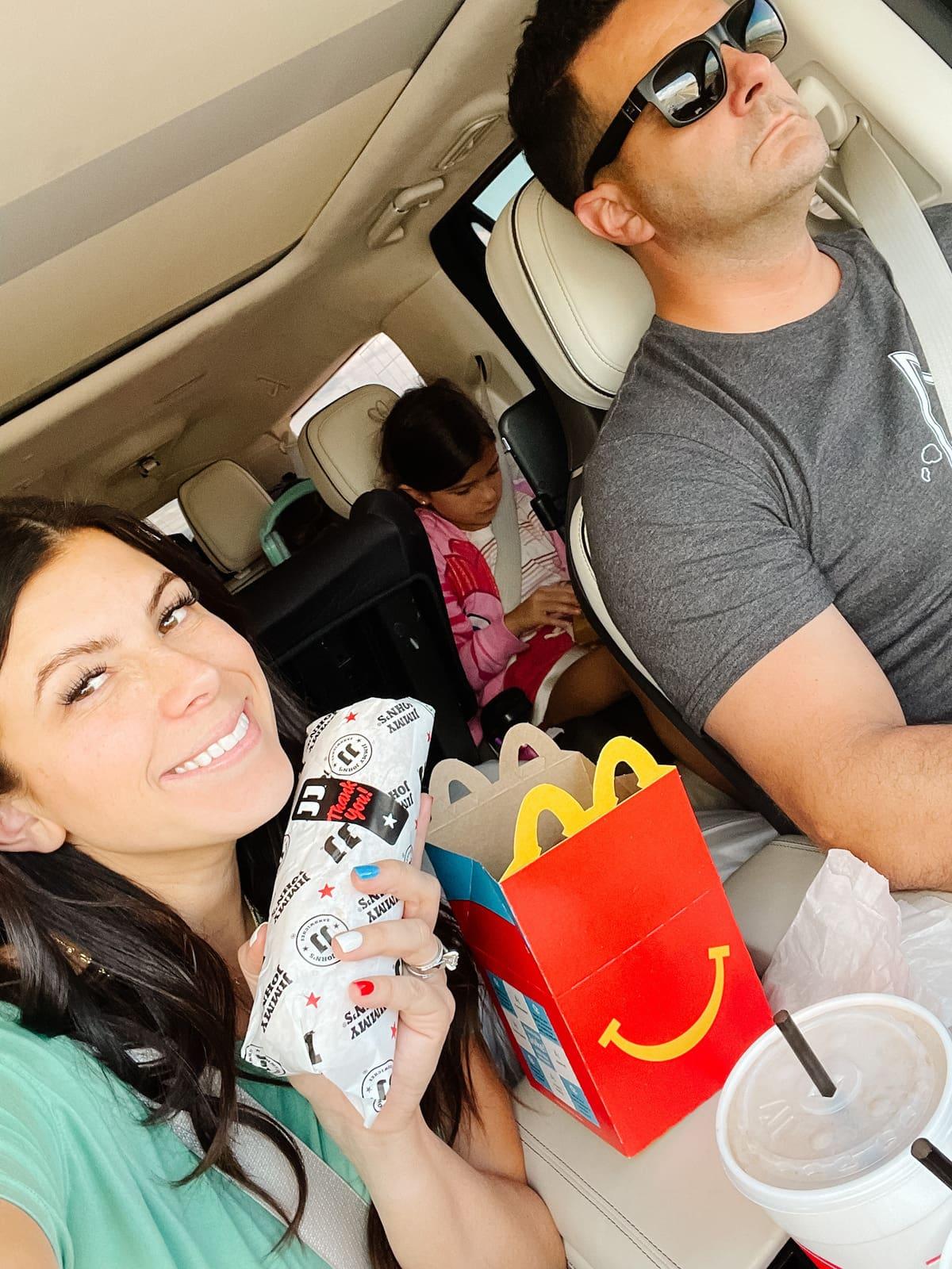 road trip meals