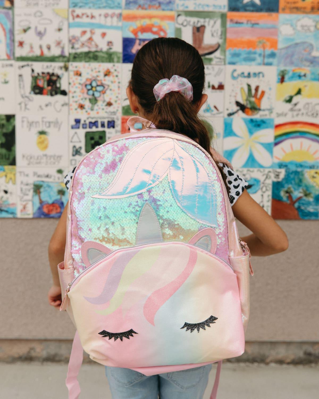 little girl mermaid unicorn backpack