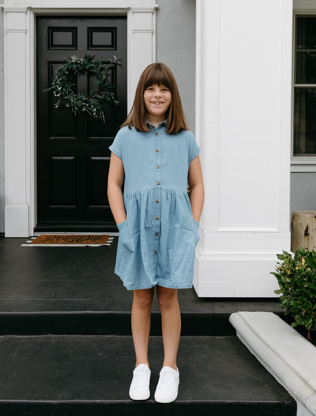 JCPenney back to school shopping chambray dress