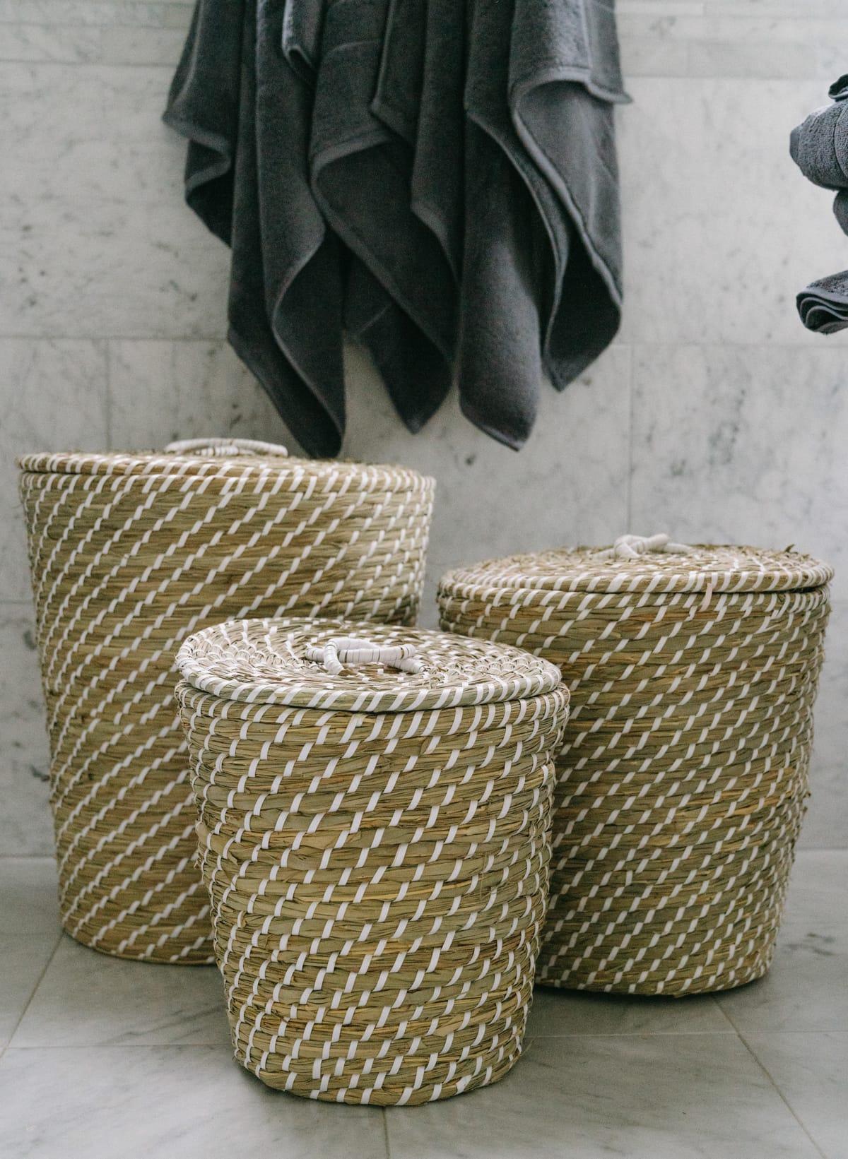 seagrass basket set qvc
