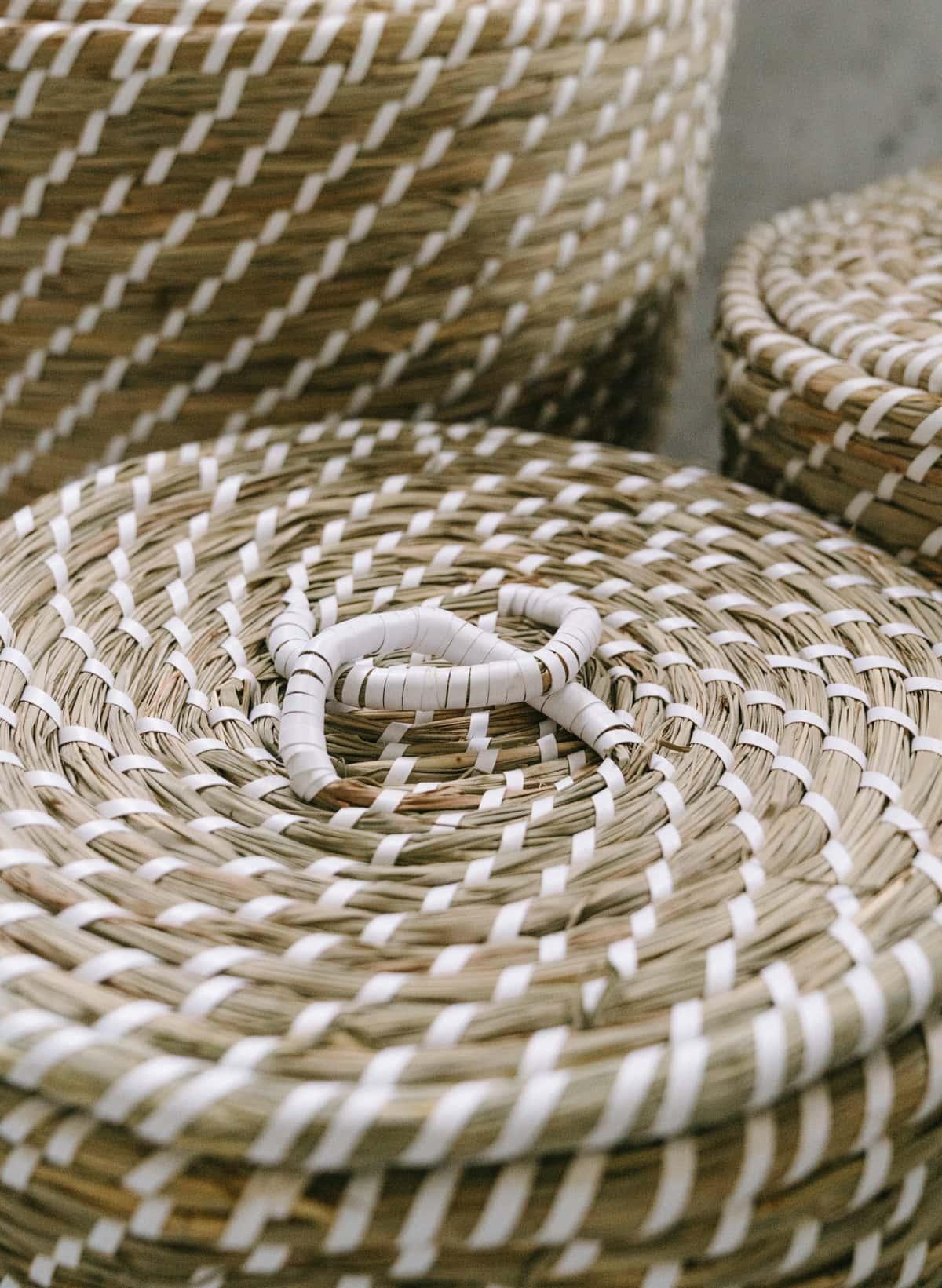 qvc seagrass baskets