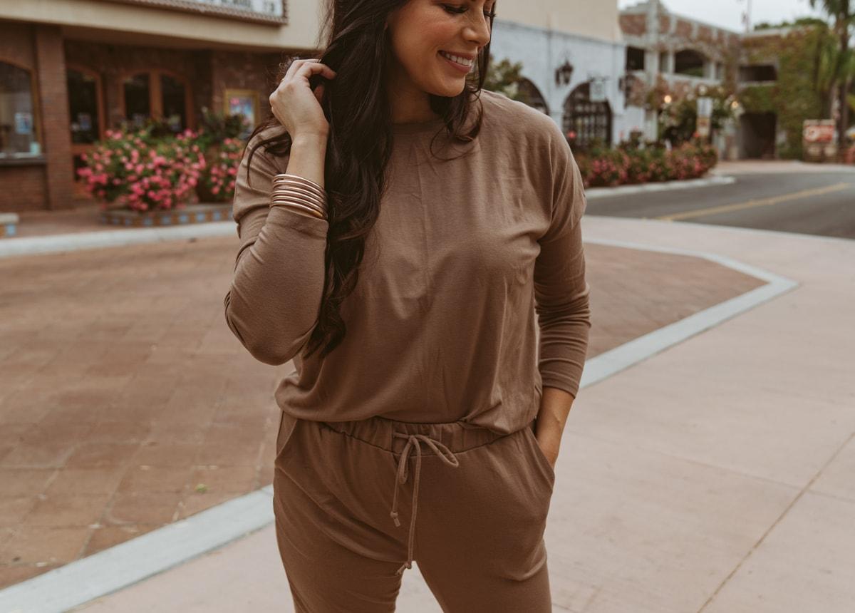 brown matching set amazon fall fashion