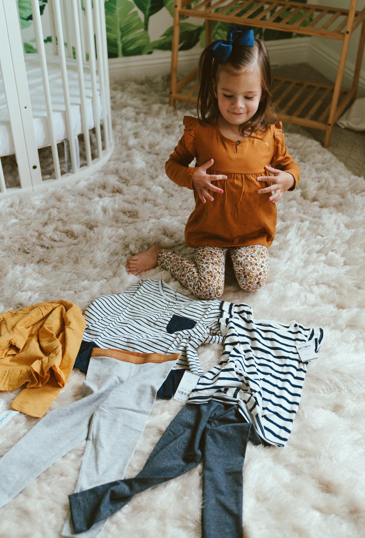 toddler girls peplum top and leggings set matching outfits