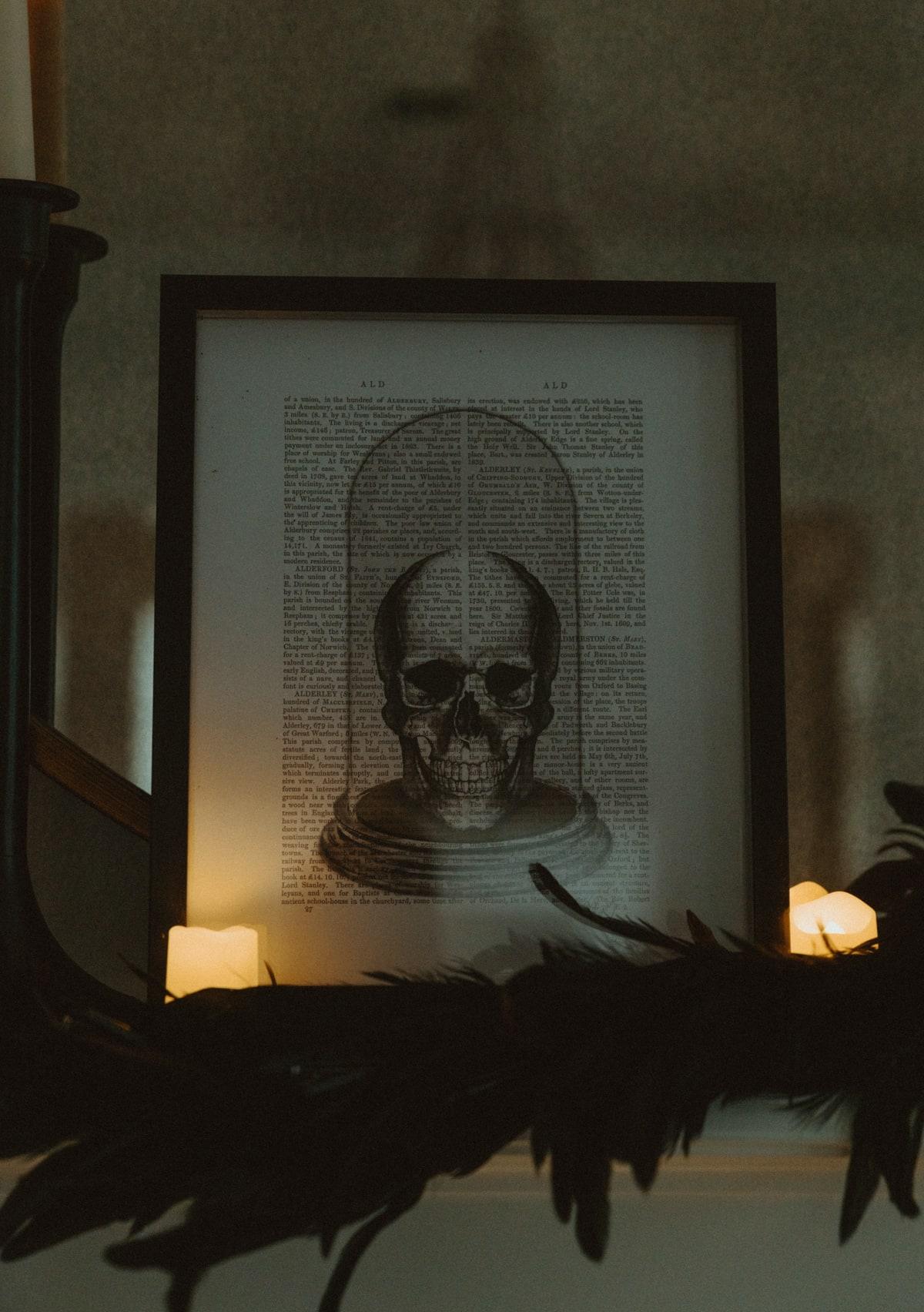 skull halloween art
