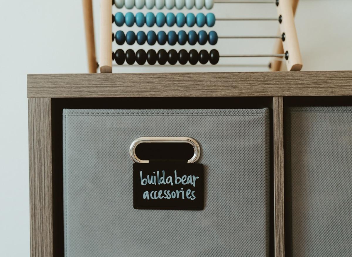 playroom organization bins