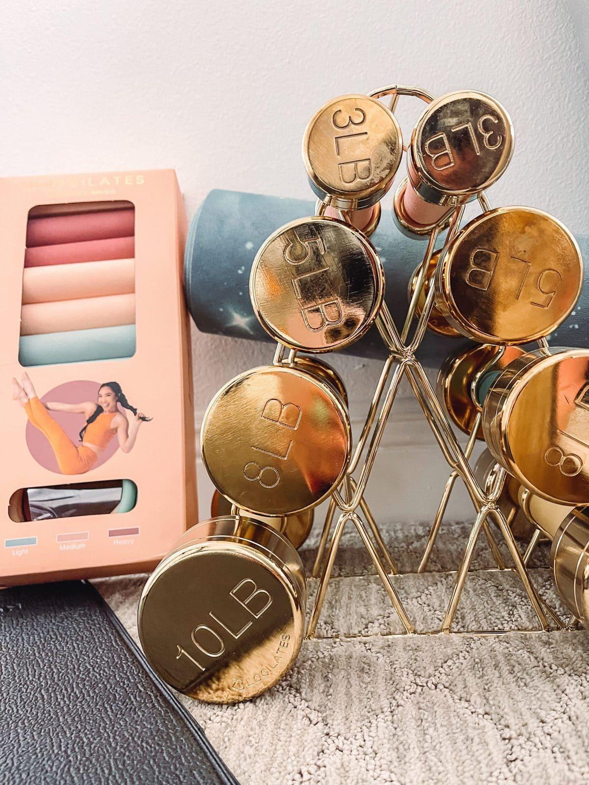 gold dumbbells target online shopping